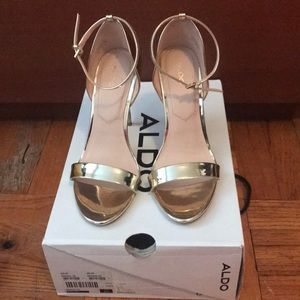 Women's  Aldo's  Brandii gold strap sandals